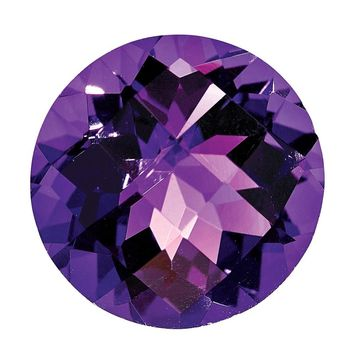 Loose Amethyst Gemstone  6mm Round Checkerboard AA Quality