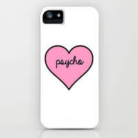 Psycho Pink Heart iPhone & iPod Case by RexLambo