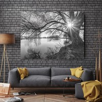 Art Canvas Painting tree sunset  Wall Art Pictures art prints on canvas Wall poster painting home decoration for living room