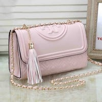Tory Burch Trending Women Stylish Leather Shoulder Bag Crossbody Satchel Pink