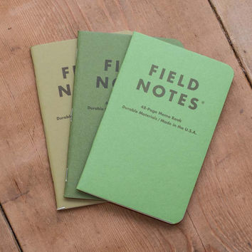 Shenandoah Limited Edition Field Notes Memo Books (Set of three)