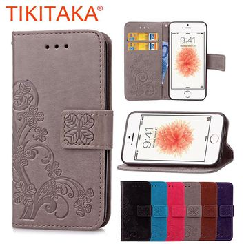 Flip Wallet Phone Cases For iPhone 5 5s SE 6 6s
