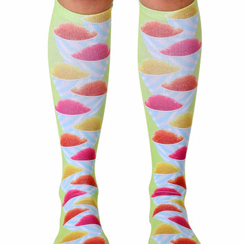 Snow Cone Knee High Socks