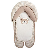 Babies R Us - White/Beige B is for Bear Double Car Seat and Stroller Headrest