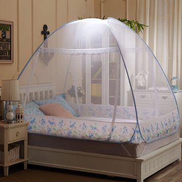 Mosquito Netting Folding Mosquito Net for Travelling,Kids Canopy Luxury Mosquito Nets Tent,Mesh Mosquitoe Net Lace for Girls Bed