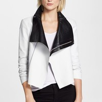 Women's Veda 'Max' Two-Tone Leather Jacket