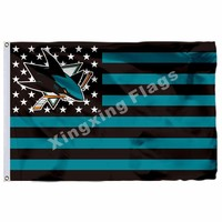 San Jose Sharks Nation Flag 3ft x 5ft Polyester NHL San Jose Sharks Banner Size No.4 90*150cm Custom flag
