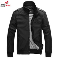 Men's Winter Sportswear College Polo Military Bomber Coat Jacket
