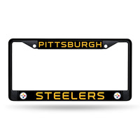 Pittsburgh Steelers NFL Black License Plate Frame