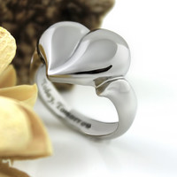 Ring Love Heart Today Tommorow & Always Couples Ring, Poesy Ring Best Gift