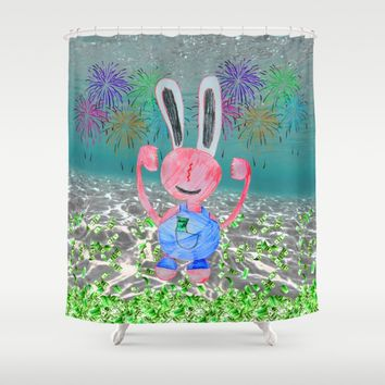 Money Money | Lord Stingy | Kids Painting Shower Curtain by Azima