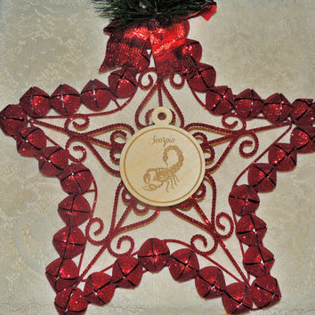 Scorpio Wood Ornament