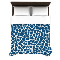 "Project M ""British Mosaic Navy"" Woven Duvet Cover"