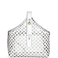 Tory Burch - Laser-Cut Garden Tote - Saks Fifth Avenue Mobile