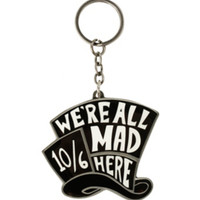 Disney Alice In Wonderland We're All Mad Here Key Chain