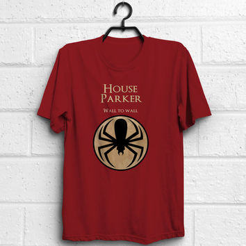 Spiderman game of thrones wall to wall quote tshirt, custom design adult women men unisex t-shirt, %100 cotton, Eco Friendly