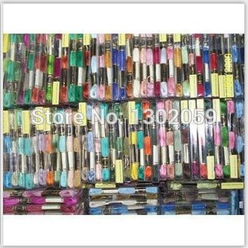 Similar DMC Choose Any Color Room Thread 100 Pcs/lot Thread Cross Stitch Embroidery Floss Thread Yarn +50 Pcs/lot Needle