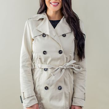 Covered For The Night Jacket-Khaki