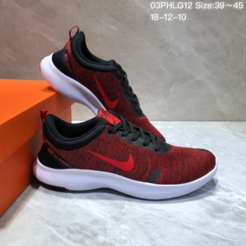 DCCK N707 NIKE FLEX EXPERIENCE RN Sports Casual Running Shoes Red Black