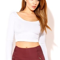 Nalana White Crop Top