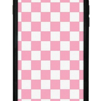 Pink Checkers iPhone 6+/7+/8+ Plus Case
