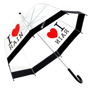 Lindy Lou I Love Rain Umbrella