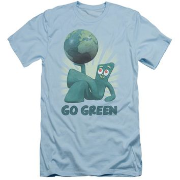 Gumby - Go Green Short Sleeve Adult 30/1 Shirt Officially Licensed T-Shirt