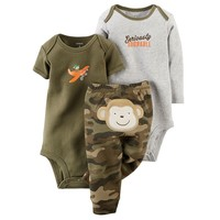 Carter's ''Seriously Adorable'' Monkey Bodysuit & Pants Set - Baby Boy, Size: