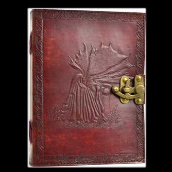 Fairy Genuine Leather Blank Journal with Latch