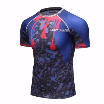 Short Sleeves Thermal Rashguard MMA