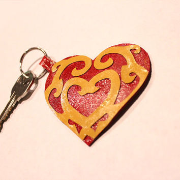 Legend of Zelda: Skyward Sword Heart Container Inspired Keychain / Keyring