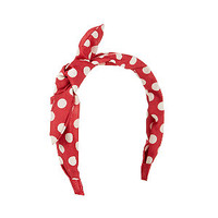 Red Polka Dot Bow Alice Band