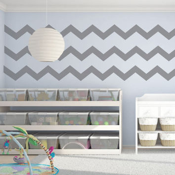 Chevron Wall Decal - Chevron Decal - Chevron Decor - Chevron Wall Decor - Nursery Wall Decal - Nursery Wall Decals - Nursery Decor  - Decals