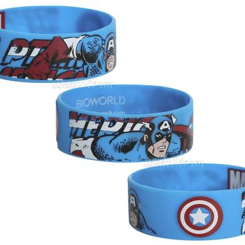 Licensed cool Marvel AVENGERS Captain America Comic Rubber Bracelet Wristband WINTER SOLDIER