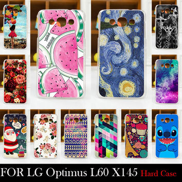 For LG Optimus L60 X145 Hard Plastic Cellphone Mask Case Protective Cover Housing Skin Mask Shipping Free