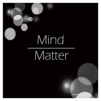 Mind over Matter Inspirational Print 5x5 Black bokeh typeography Fine Art Illustration