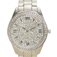 New Years Bling Metal Watch - WetSeal