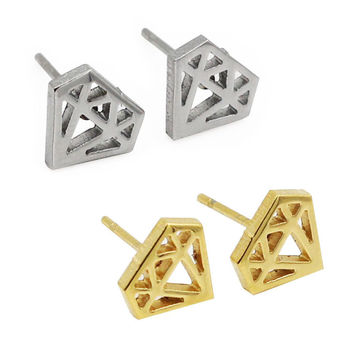 Trendy Stainless Steel Stud Earrings E0231