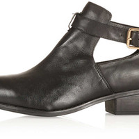 TOPSHOP MONTI Cut Out Leather Boots