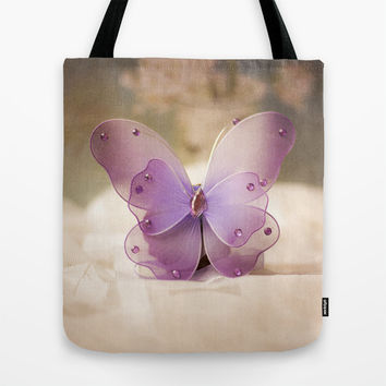 Butterfly Tote Bag by Maria Moreno