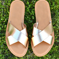 The Kenzie Sandal - Rose Gold