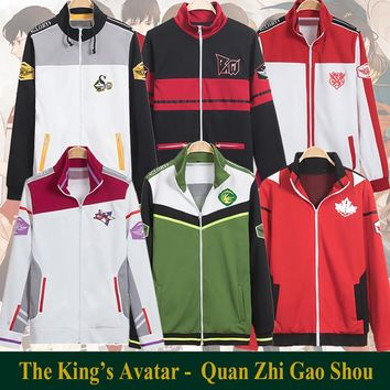 The King's Avatar Online Game Glory Top Teams Uniform Tyranny Samsara Excellent Era Team Uniform Sweatshirts Coat Anime Costume