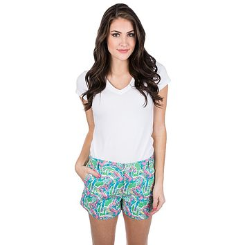 Printed Poplin Shorts in Macawl Me by Lauren James