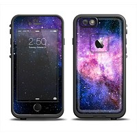 The Vibrant Purple and Blue Nebula Apple iPhone 6 LifeProof Fre Case Skin Set