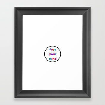 free your mind Framed Art Print by Love from Sophie