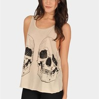 Prank Skull Tank - Beige at Necessary Clothing