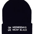 ON WEDNESDAYS WE WEAR BLACK BEANIE