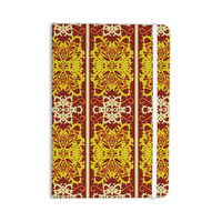 "Mydeas ""Butterfly Dog Damask"" Yellow Red Everything Notebook"