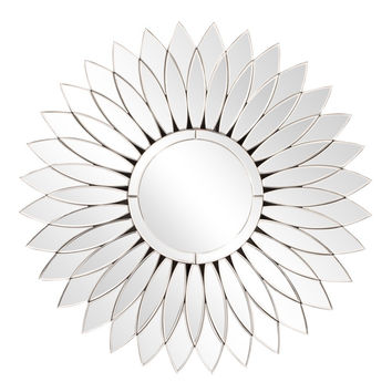 "Howard Elliott Daisy Round Mirror 31.1/2"" diameter x 3/4"""