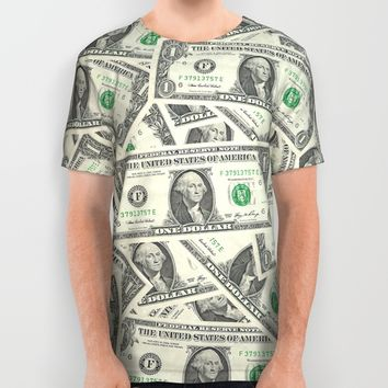 Dollar Bills All Over Print Shirt by Joe Surfer